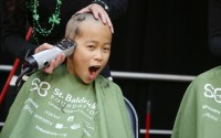 ST. BALDRICK'S hair-cutting event in Northern California.