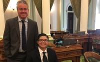 JONAS CORONA in Sacramento with Assemblymember Patrick O'Donnell, (D-70th District)