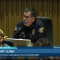 Chief of Police Robert Luna testifies unmasked behind his boss, City Manager Tom Modica during a Long Beach City Council meeting on July 20.