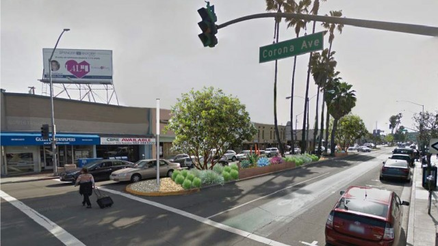 PROPOSED VIEW looking east on Second Street at Corona Avenue.