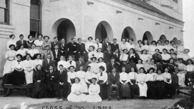 LONG BEACH High School of 1910. Some went off to war.
