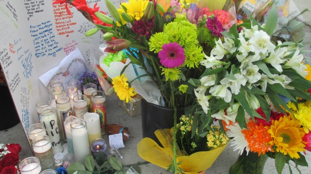 A memorial grew in size on Friday afternoon when word of the death of 12-year-old Lakewood resident Eric Dagel spread to his family and friends. One of the dozen attendees at the memorial identified Eric – a student at Marshall Academy – as the deceased victim and his 13-year-old sister, Julia, as the injured bicyclist.