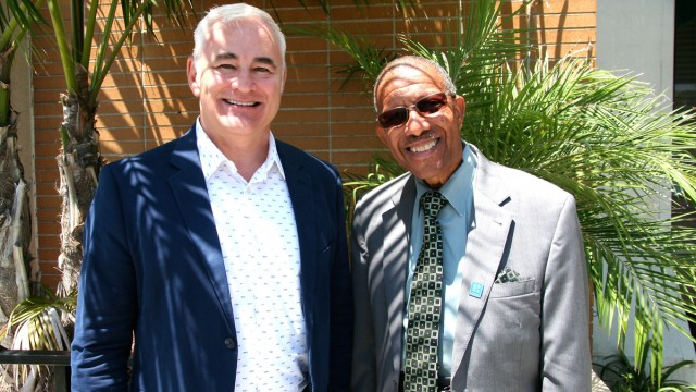 Keith Kennedy, (left), president of the Small Property Owners Alliance of Southern California (SPOA-SoCal), is pictured with Malcolm Bennett, SPOA-SoCal vice president and broker for International Realty & Investments of Long Beach.