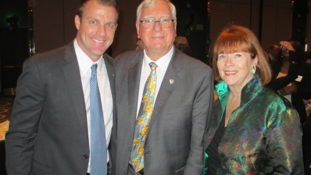 From left, Long Beach Rotary President Steve Keesal, Rotary International President Ian Riseley and Rotary Centennial Task Force Chair Cam Killingsworth.